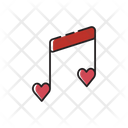 Music Notes Melody Romantic Icon