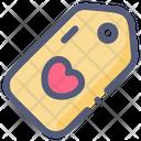 Love Sale Tag Icon