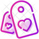 Valentine Day Tag Heart Icon