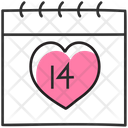 Valentines Day Valentine Calendar Daybook Icon
