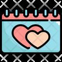 Calendar Valentines Valentine Icon