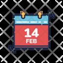 Calendar Valentines Day Love Icon