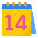 Valentines Day Calendar Day Icon