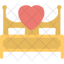 Valentines Decor Bed Icon