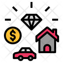 Value Property Rich Icon