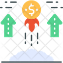 Value Dollar Increase Dollar Rain Icon