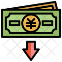 Value Money Down Business And Finance Value Icon