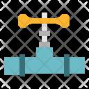 Valve Pipe Construction Icon