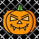 Vampire Pumpkin Halloween Icon