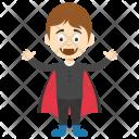 Vampire Boy Halloween Icon
