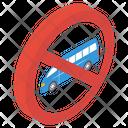 Wagon Ban Van Forbidden Stop Van Icon