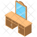 Vanity Table Furniture Makeup Table Icon