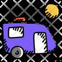 Lining Van Vanity Van Living Vehicle Icon