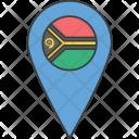 Vanuatu Country Flag Icon