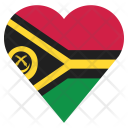 Vanuatu Flag Country Icon