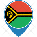 Vanuatu Flag World Icon