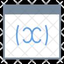 Variable Webpage Web Icon