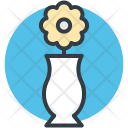 Vase Flower In Icon