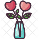Vase Love Heart Icon