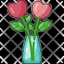 Vase Love Heart Icon