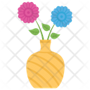 Flower Pot Vase Interior Decoration Icon
