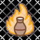 Clay Vase Fire Icon