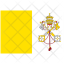 Flag Country Vatican City Holy See Icon