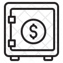 Safe Money Vault Locker Icon