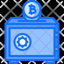 Safe Protection Bitcoin Icon