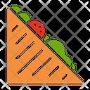 Vagetable Sandwich Fastfood Junkfood Icon