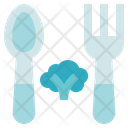 Vegetarian Vegan Spoon Icon
