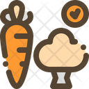 Vegetable Healthy Carrot Icon