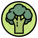 Vegetable Vegetarian Broccoli Icon