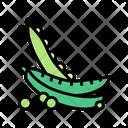 Vegetable Peas Color Icon