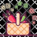 Vegetable Basket Vegetable Bucket Grocery Icon
