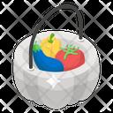 Harvest Veggies Vegetable Basket Food Box Icon