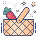 Vegetable Basket Food Bucket Food Container Icon
