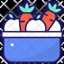 Vegetable Basket Harvest Basket Icon