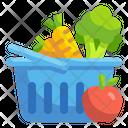 Vegetable Basket Vegetable Bucket Healthy Food Icon