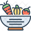Vegetable Bowl Icon