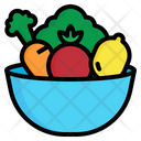 Vegetable Bowl Food Icon