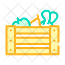 Vegetables Box Color Icon