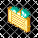 Vegetables Box Isometric Icon