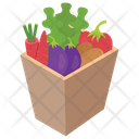 Vegetable Bucket Vegetable Container Green Grocery Icon