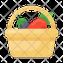 Vegetable Bucket Vegetable Basket Food Bucket Icon