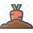 Fresh Vegetable Farming Icon
