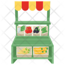 Vegetable Shop Vegetable Kiosk Vegetable Stall Icon