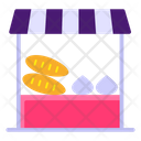 Vegetable Shop Vegetable Cart Street Food Icon