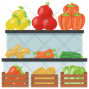 Vegetable Stall Food Stall Street Stall Icon