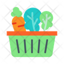 Vegetables Shopping Basket Shopping Cart Icon